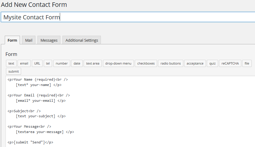Creating a contact page with Contact Form 7 and the Customizr theme