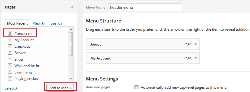 Visit Your Site To See If Contact Page Is Present On Menu Click The Item