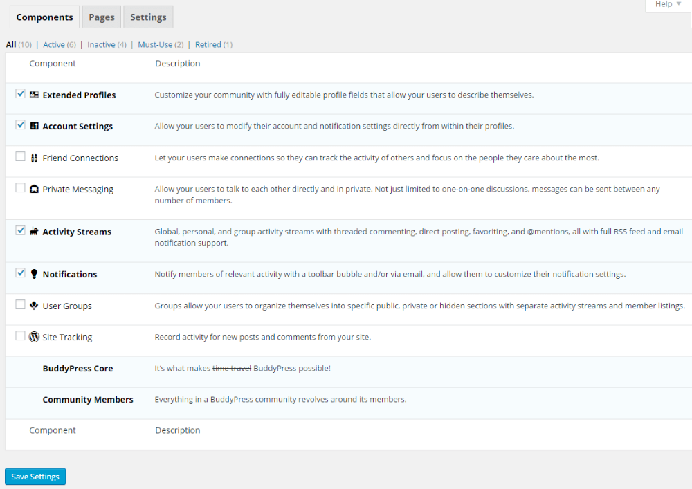 Create your own social network with BuddyPress and the