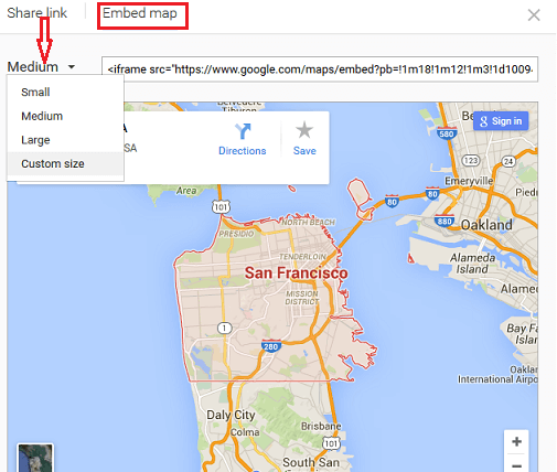 Integrating a Google Map of your Headquarter in the footer
