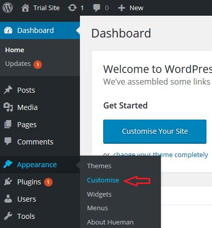 First steps with the Hueman WordPress theme - Press Customizr ...