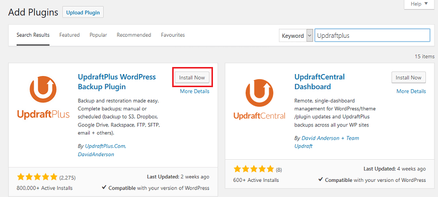 Setting up a secure WordPress backup with the UpdraftPlus plugin