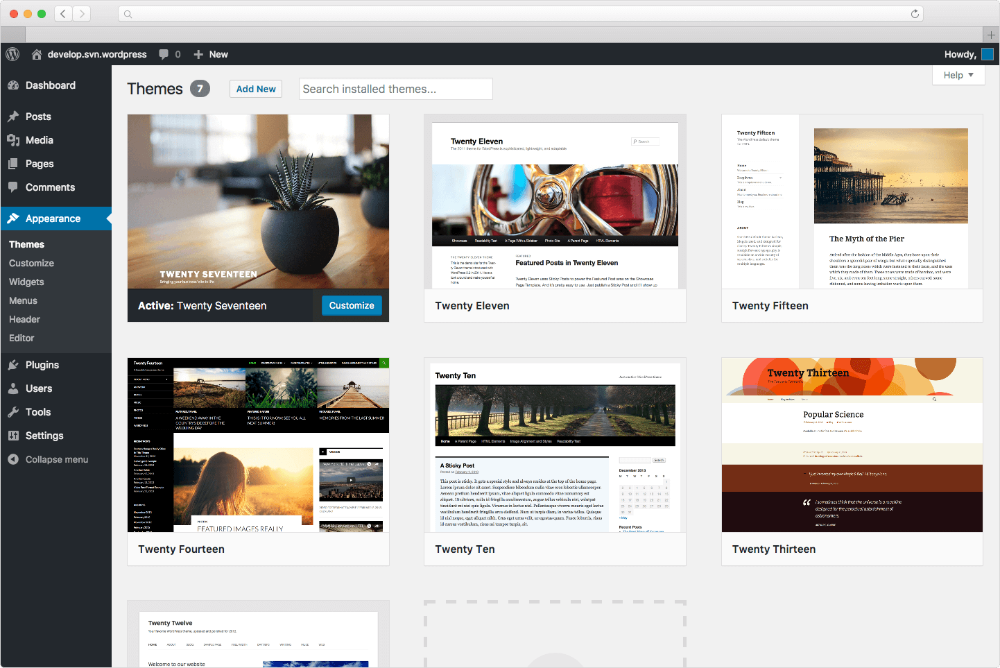 How to manually install or update a wordpress theme for What wordpress template is this