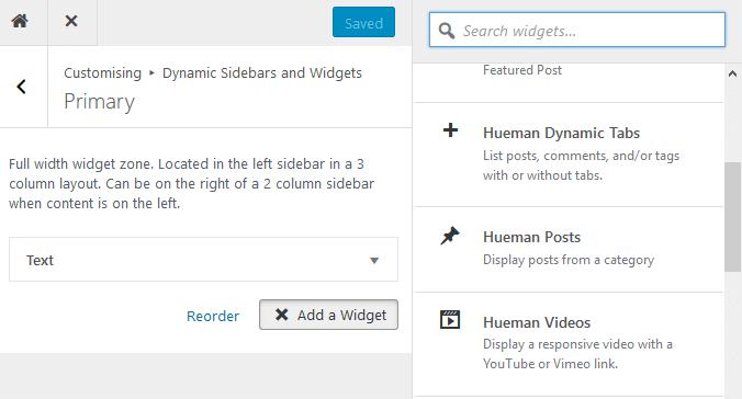 How to use the Hueman theme widgets : Posts, Dynamic Tabs