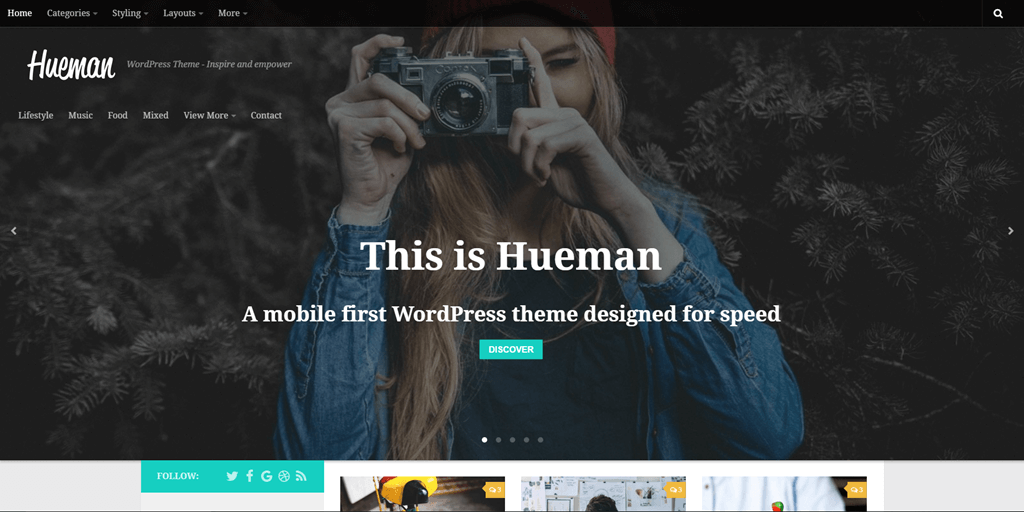 pro designing your header with a large image or a slider background
