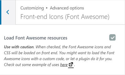 font awesome option
