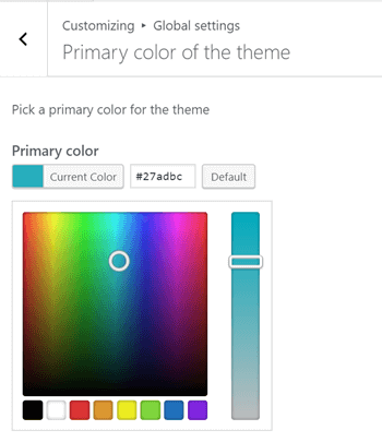Primary color picker