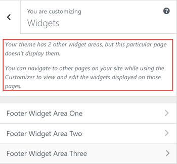 Widgets Panel - no sidebars