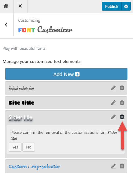 removing a customization