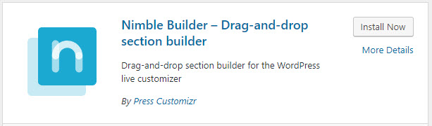 Installing the Nimble Builder plugin