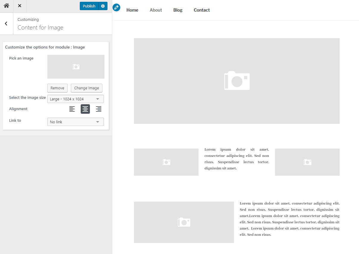 Create column layouts with the Nimble Builder wordpress plugin
