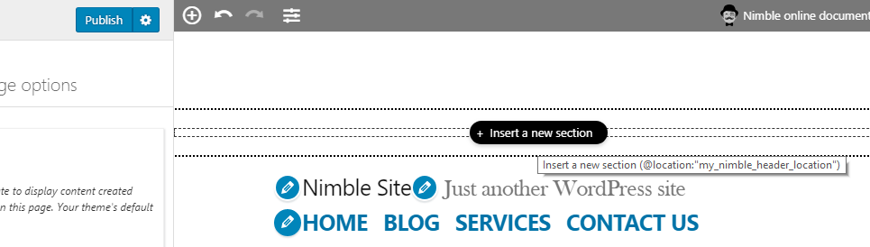 Adding a custom location with the Nimble Builder