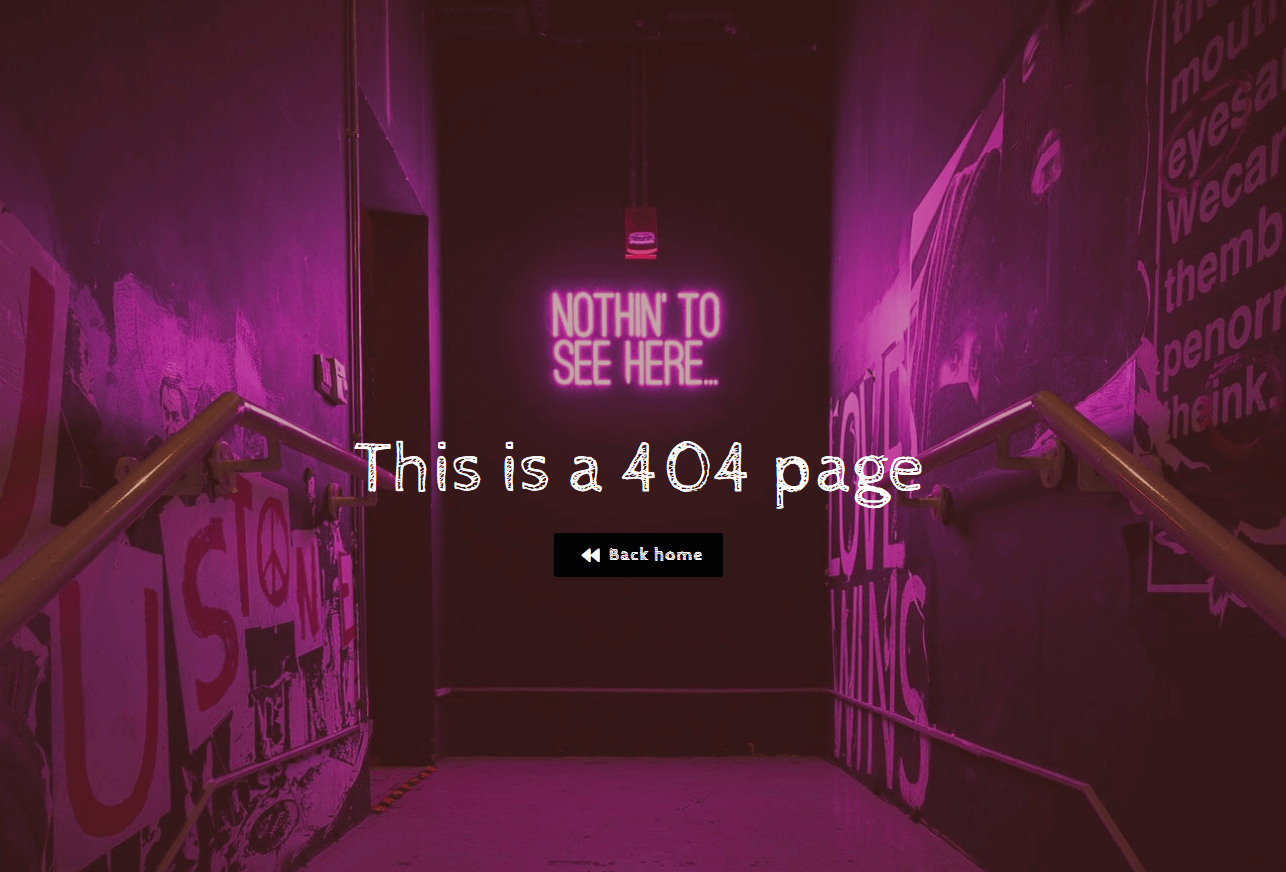 404 error page built with the Nimble Builder