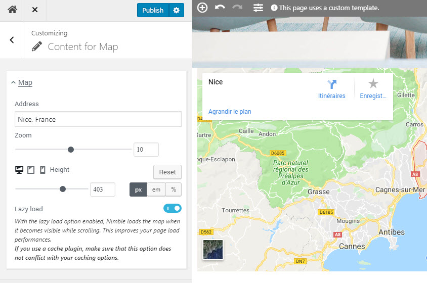How to insert Google maps in your WordPress pages with Nimble ... How To Insert Google Map Into Website on