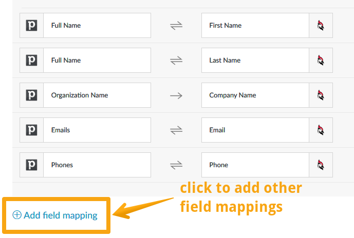 Field mappings