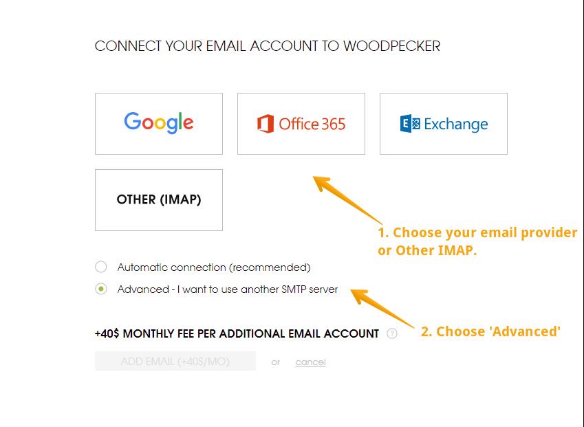 Email Account: Advanced setup - Help Woodpecker co