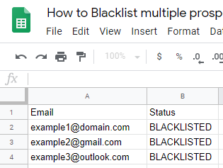 How to Blacklist multiple prospects (bulk update) - Help