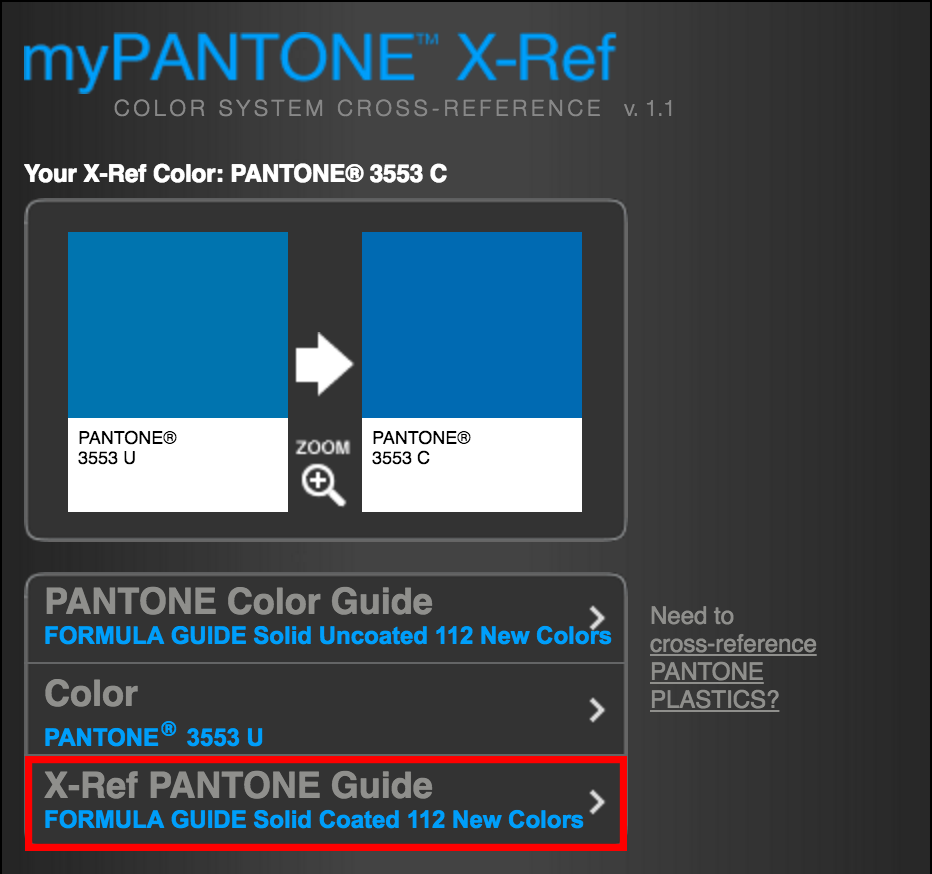 step 3 choose solid coated 112 new colors pantone guide