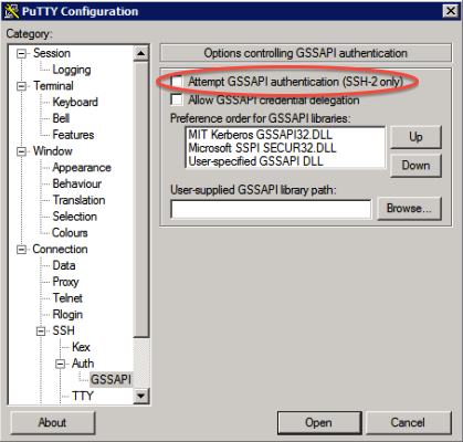 Problem connecting with PuTTY - Thayer Computing Knowledge Base