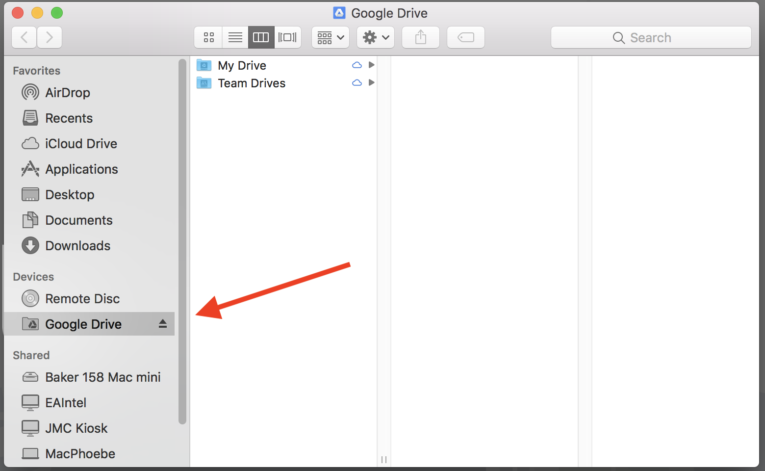 add google drive to mac finder