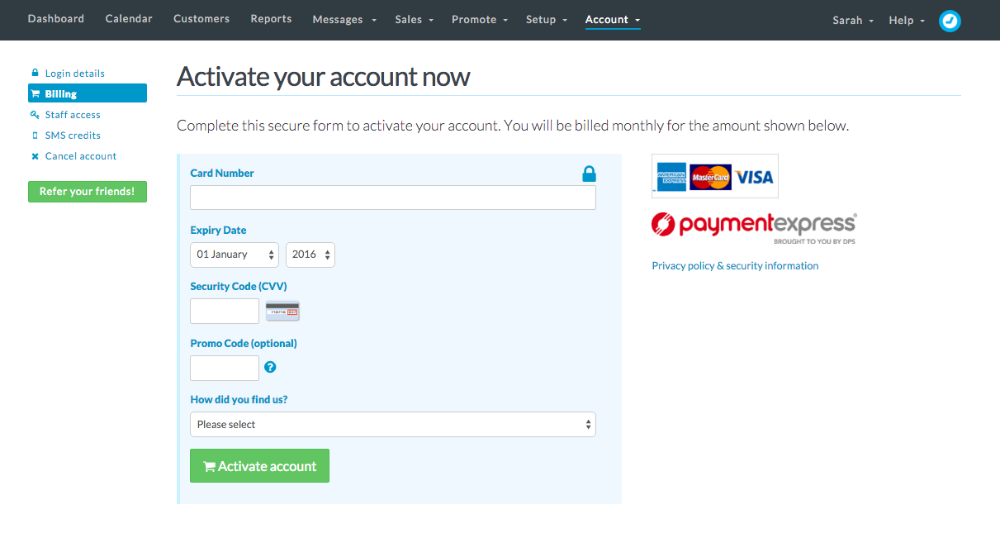 Activate your Timely account
