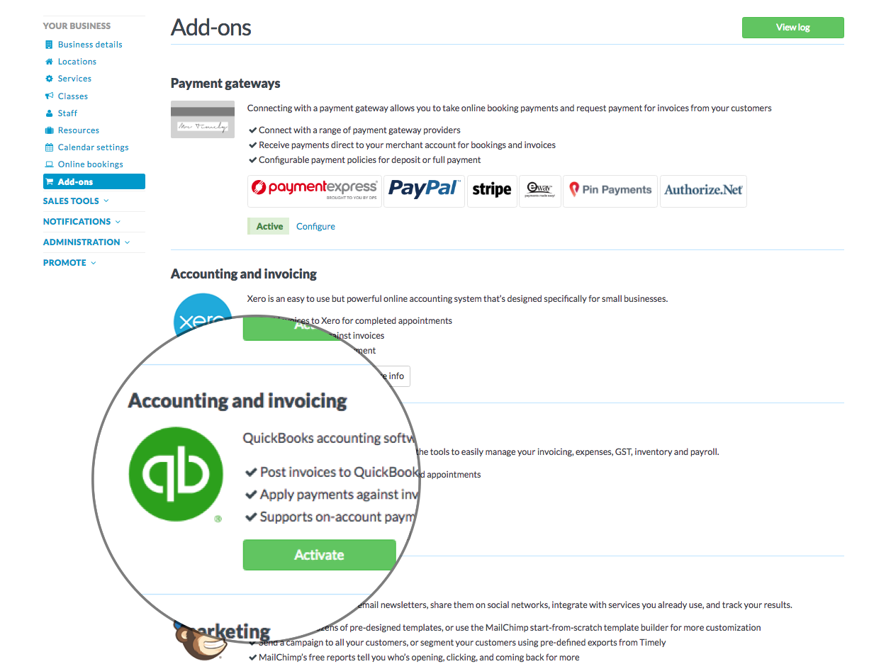 How to connect your QuickBooks Online account to Timely