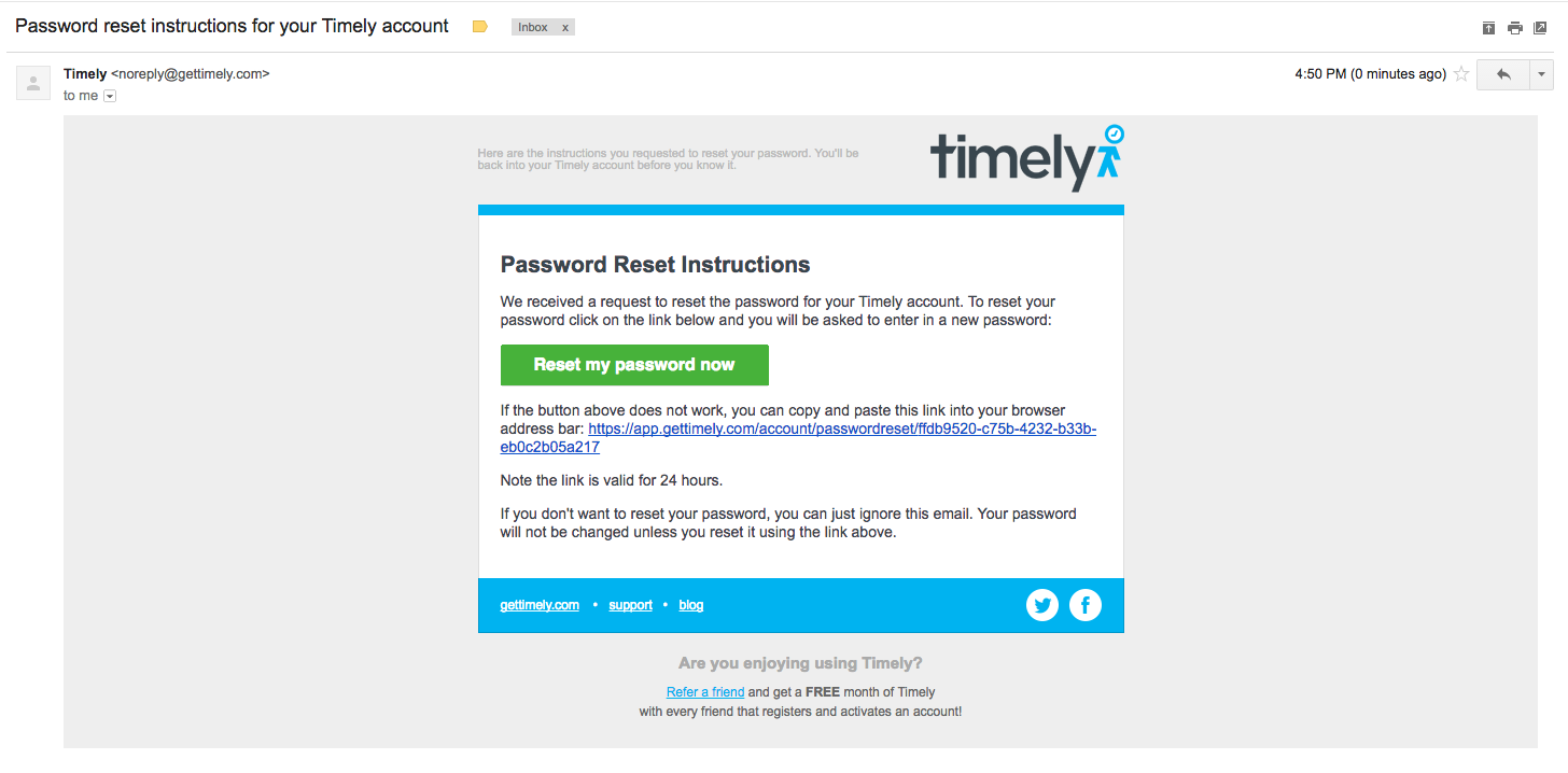 How to reset your Timely password - Timely Help Docs
