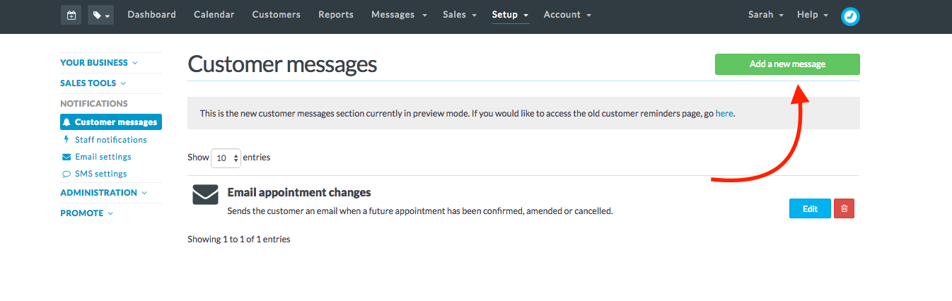 at the top of the page you will see a list of customer messages choose follow up from the options