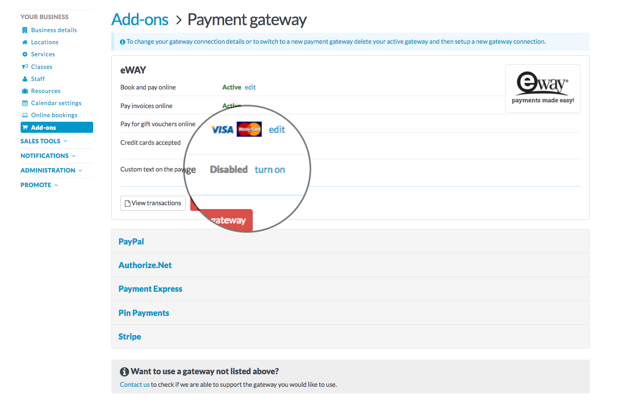 How to set up your payment gateway - Timely Help Docs