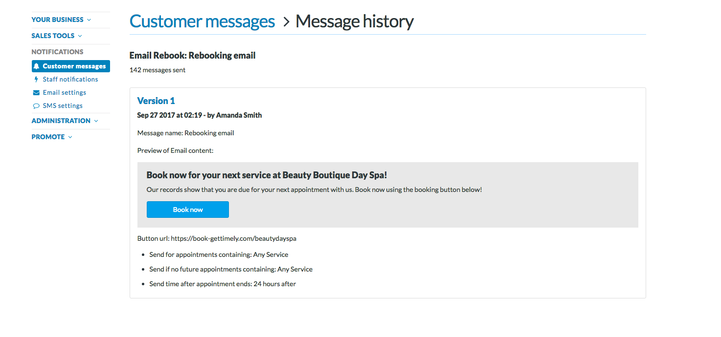 How to edit automated customer messages - Timely Help Docs
