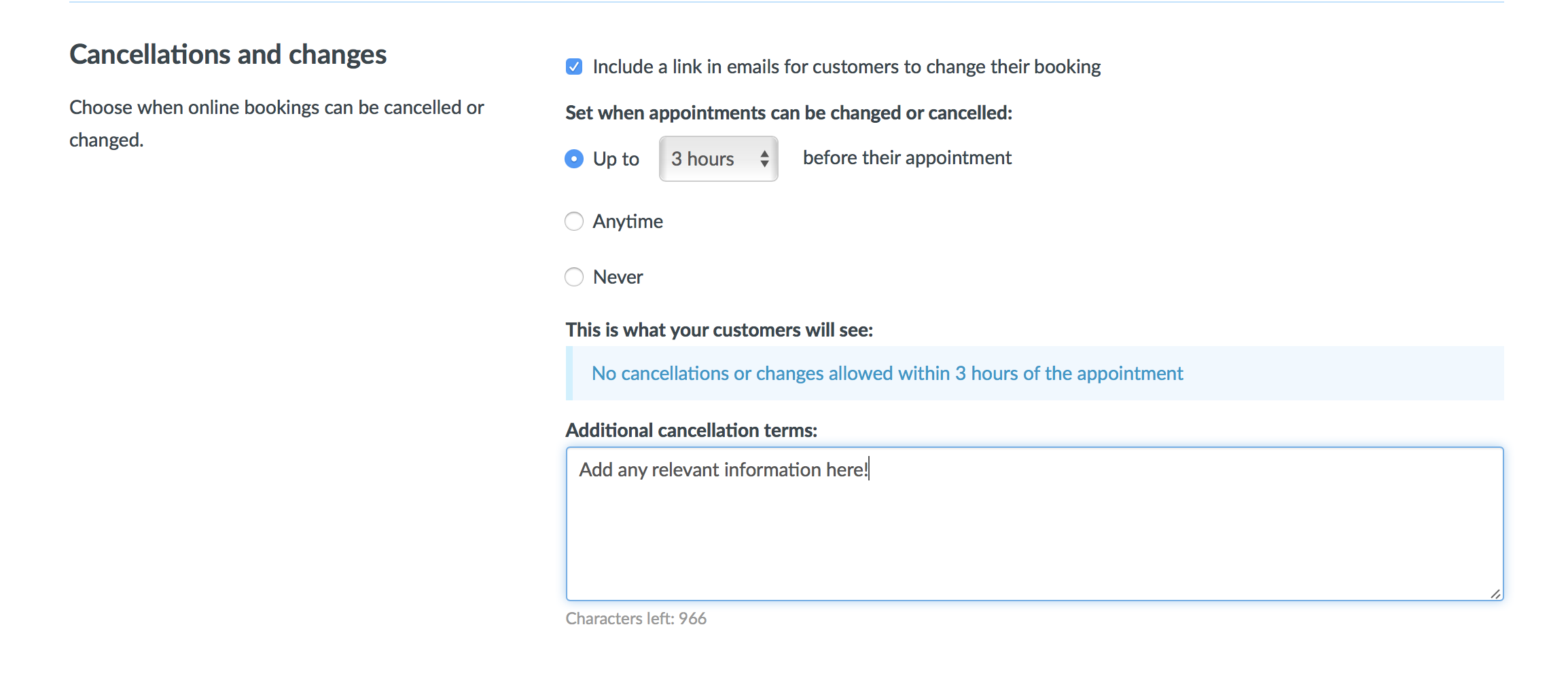 How To Set The Cancellation And Online Booking Policies Timely