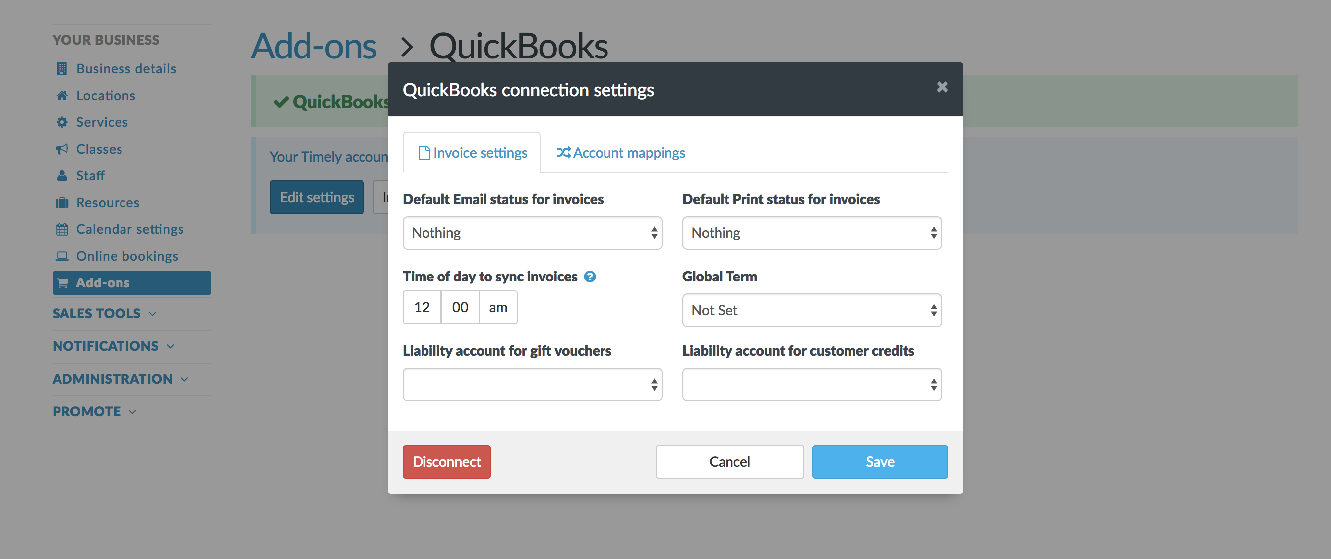 How To Adjust Your Quickbooks Online Settings Timely Help Docs - Quickbooks invoice status