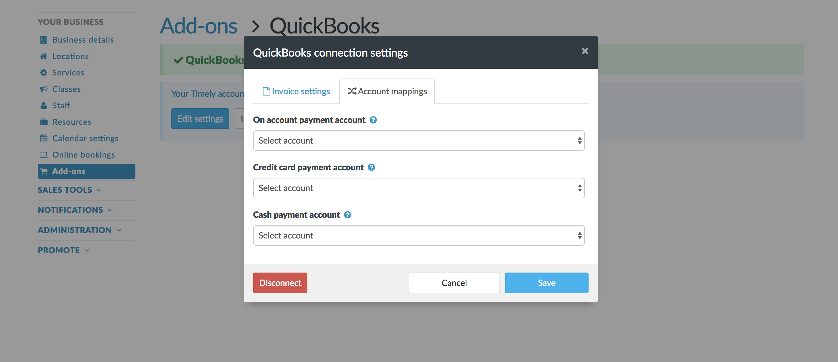 How To Adjust Your Quickbooks Online Settings Timely Help Docs - Quickbooks invoice credit card payment