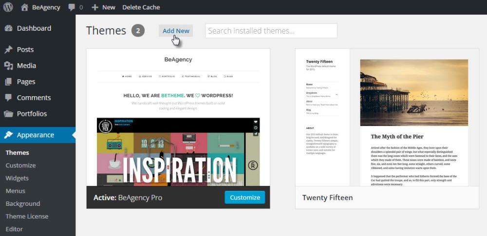 Installing WordPress Themes - BeTheme Documentation