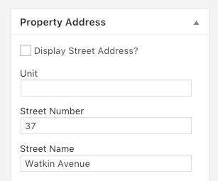 how to replace street address with custom text when set to not