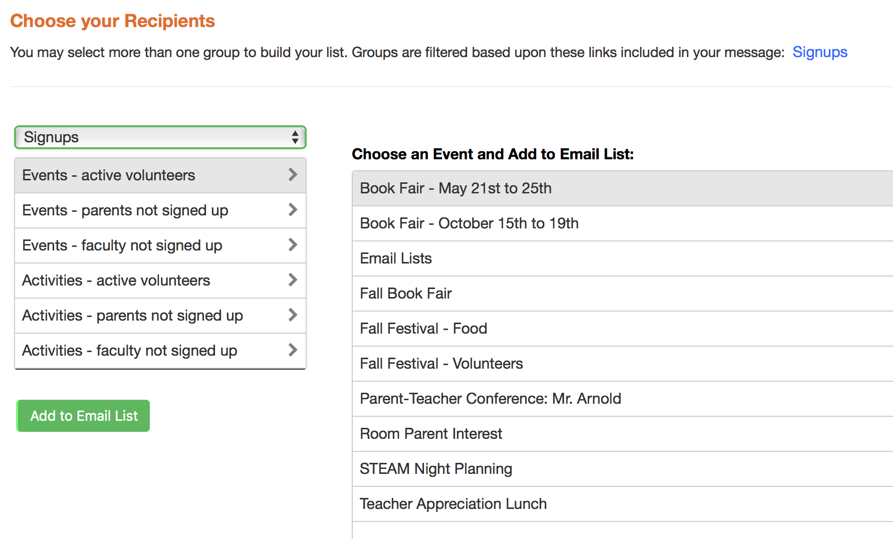 sending a signup email myschoolanywhere