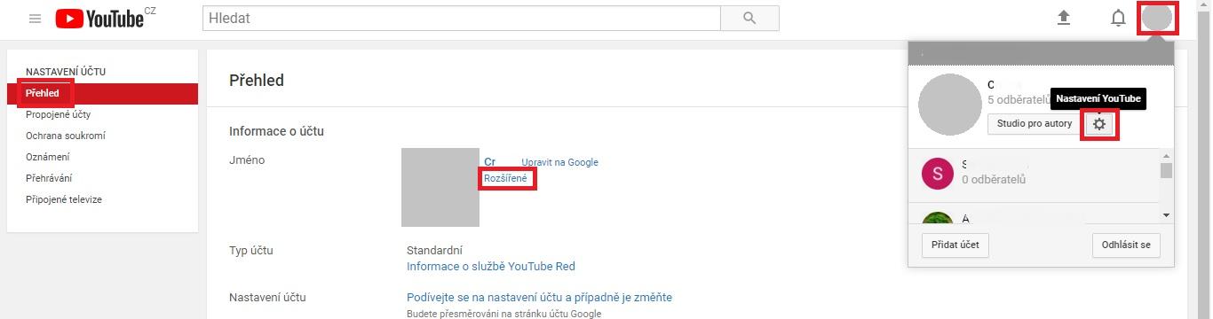 a9e135f6b Jak na web vložit odkaz na YouTube kanál - Mioweb nápověda