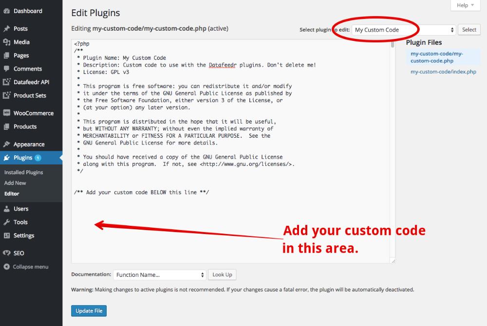 How do I create a custom plugin? - Datafeedr Documentation