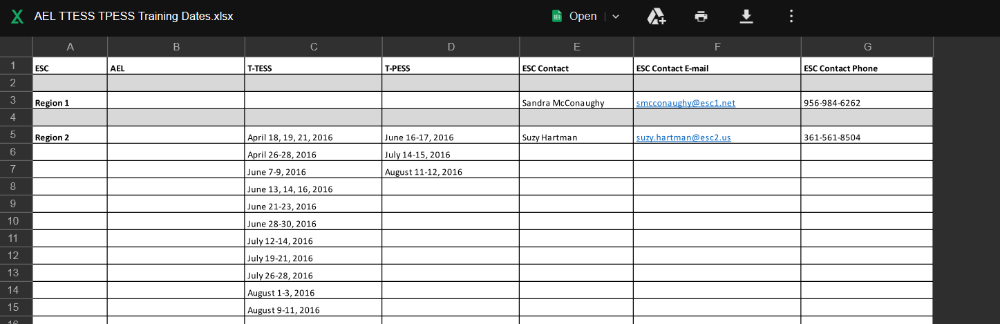 How to Add/ Update Training Dates to the Google Spreadsheet
