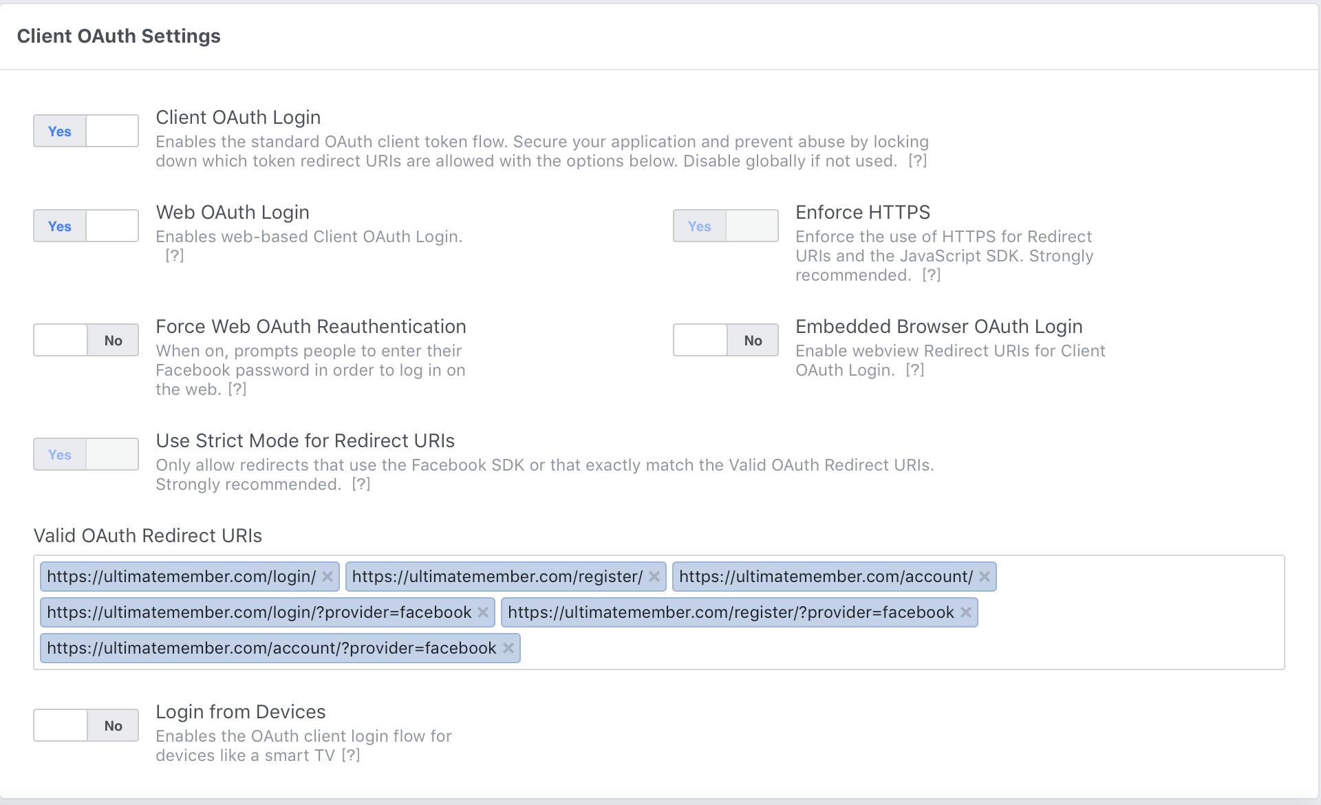 Facebook App Setup - Documentation | Ultimate Member