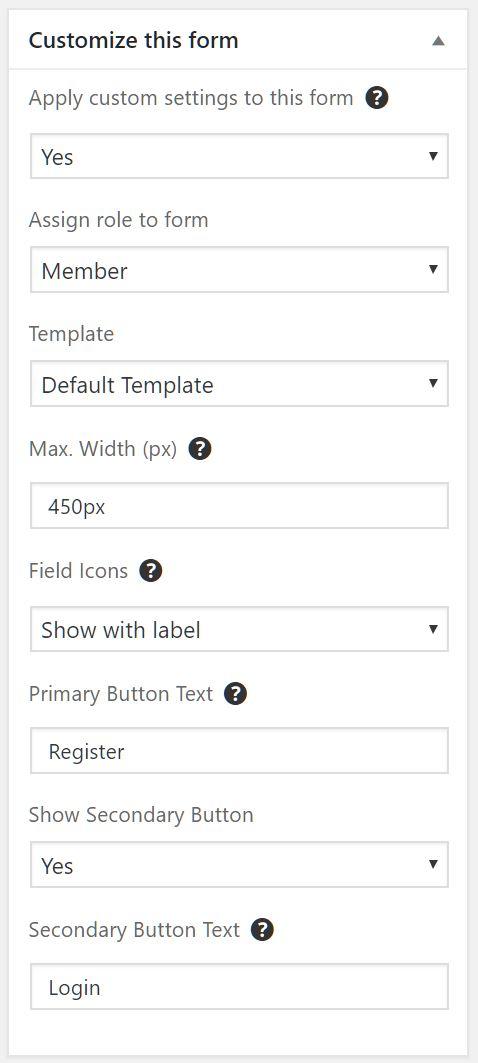 Adding A Registration Form Documentation Ultimate Member