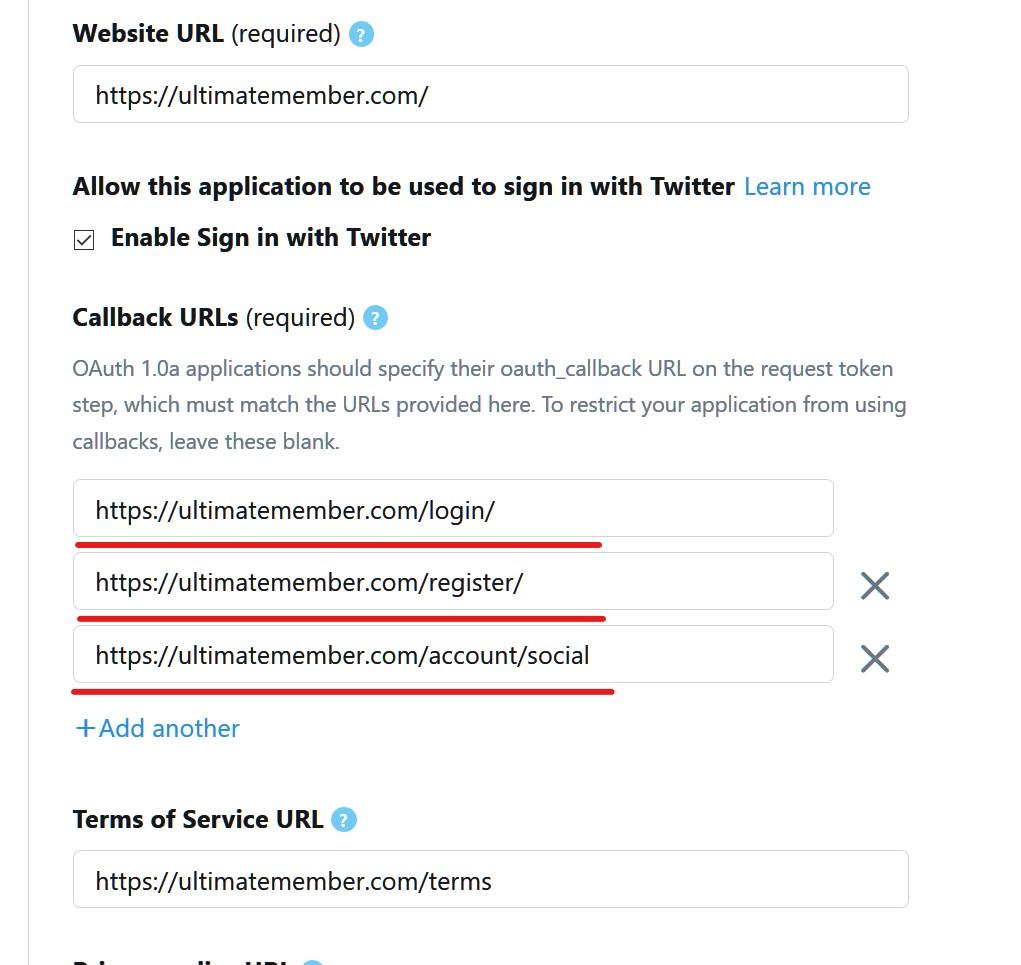 Twitter App Setup - Documentation | Ultimate Member