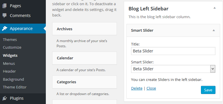 Publish on WordPress - Smart Slider 3
