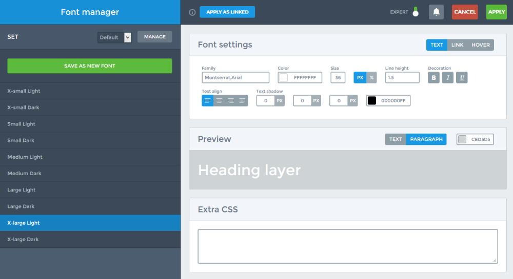 Font manager - Smart Slider 3