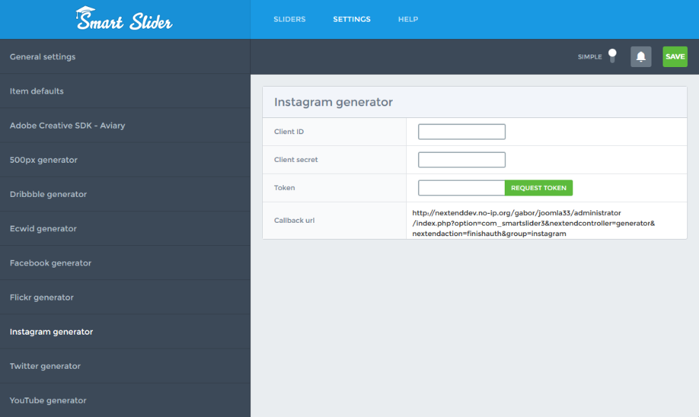Instagram generator - Smart Slider 3