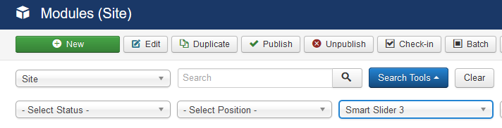 Blank space, where the slider should be (Joomla) - Smart