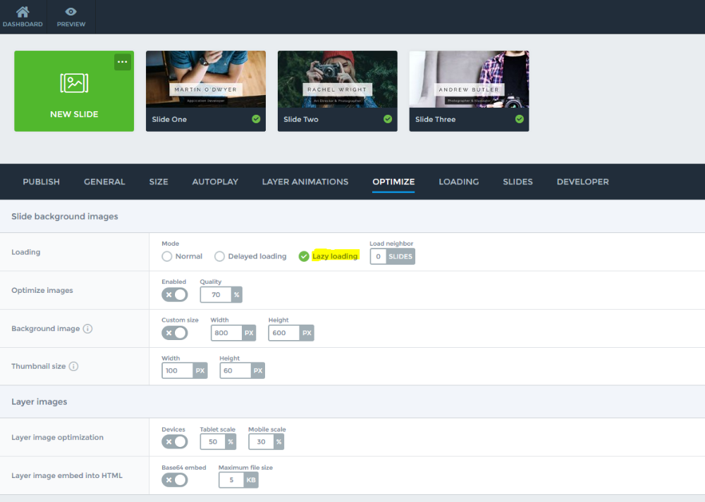how can i speed up my website smart slider 3