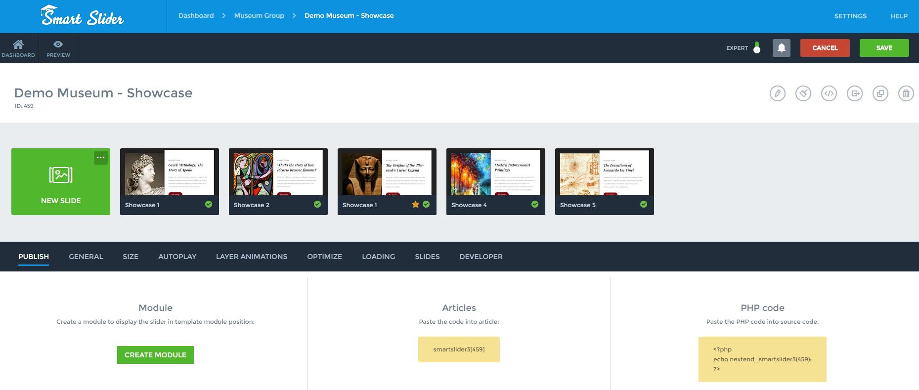 Publish On Joomla Smart Slider 3