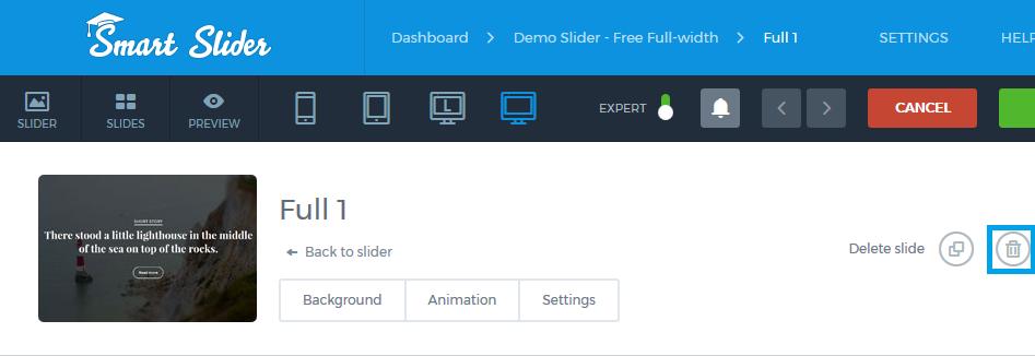 Interface - Slide configuration area - Smart Slider 3
