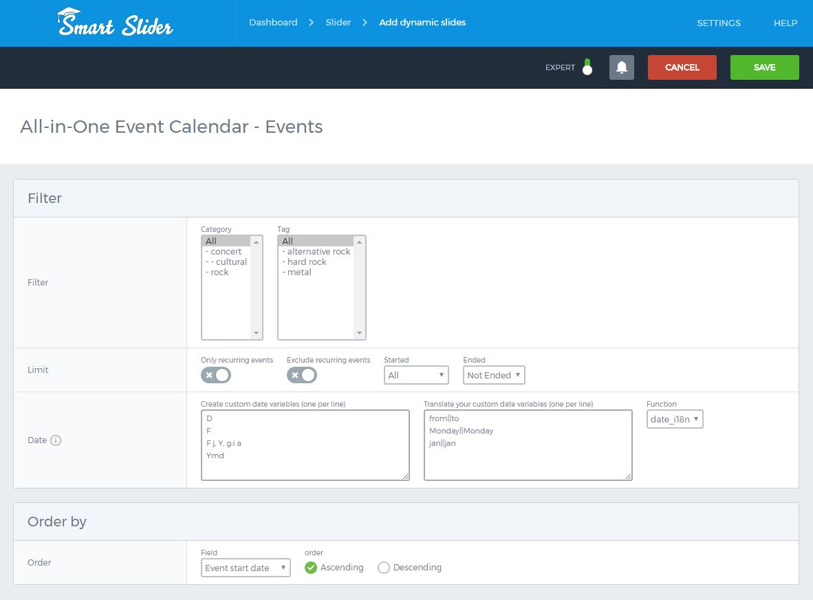 One Calendar.All In One Event Calendar Generator Smart Slider 3